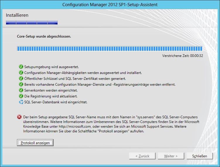 SCCM SQL-Error sys.servers